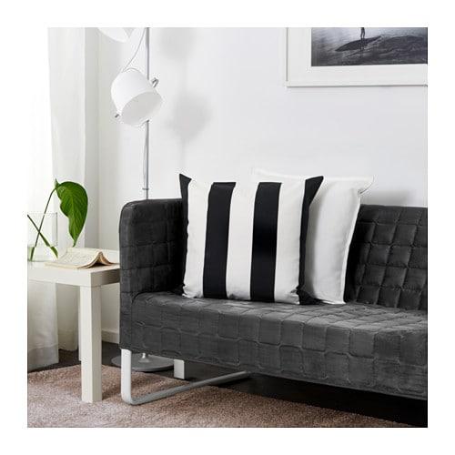 Knopparp divano a 2 posti grigio ikea - Montaggio divano ikea ...