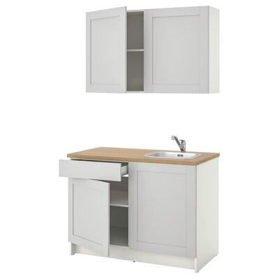 KNOXHULT Cucina, grigio, 120x61x220 cm