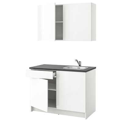 KNOXHULT Cucina, lucido bianco, 120x61x220 cm