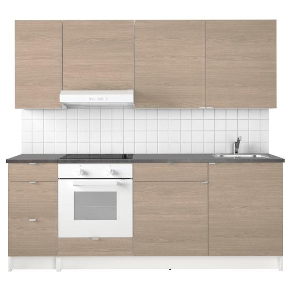Cucina KNOXHULT effetto legno grigio