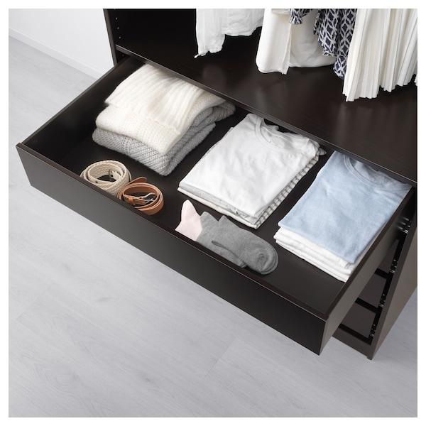 KOMPLEMENT Cassetto, marrone-nero, 100x58 cm