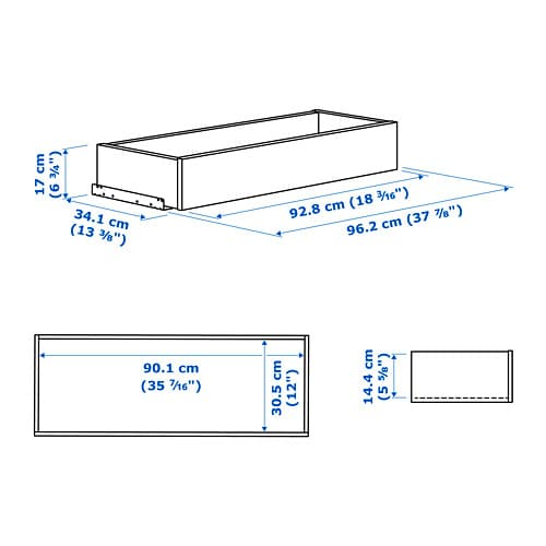 komplement cassetto - 100x58 cm - ikea