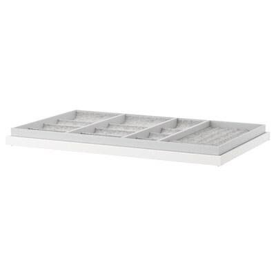KOMPLEMENT Ripiano estraibile con divisorio, bianco, 100x58 cm