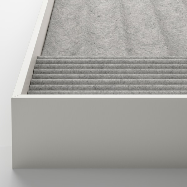 KOMPLEMENT Ripiano estraibile con divisorio, effetto frassino mordente marrone, 50x58 cm