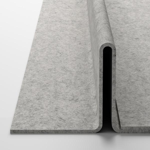 KOMPLEMENT Ripiano estraibile con portascarpe, marrone-nero/grigio chiaro, 100x58 cm