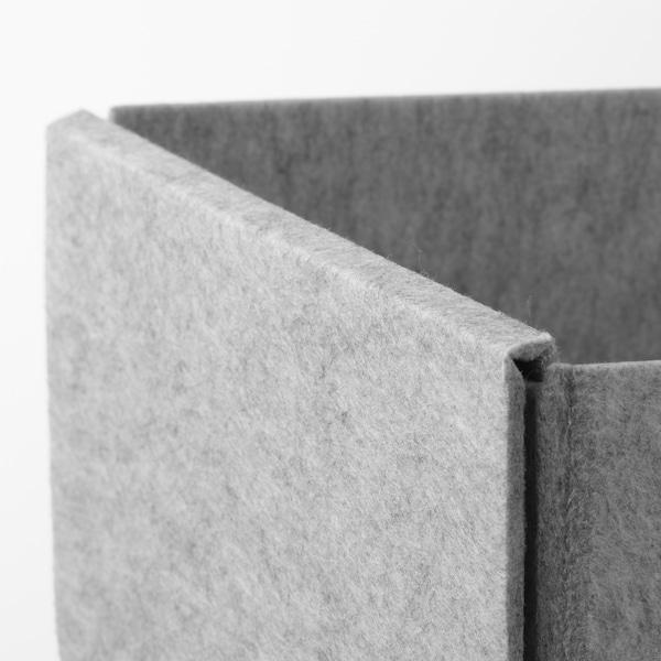 KOMPLEMENT Set di 4 scatole, grigio chiaro, 40x54 cm
