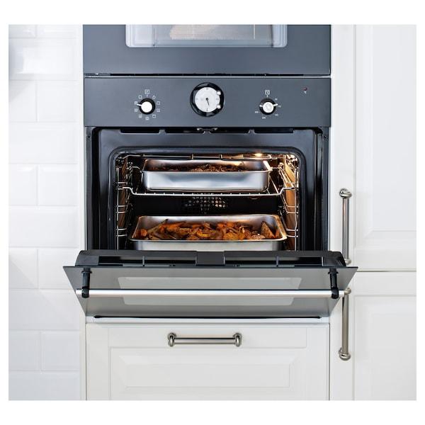 KONCIS Teglia da forno con griglia, inox, 40x32 cm