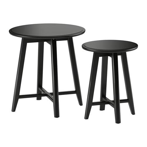 Kragsta set di 2 tavolini nero ikea - Tavolini soggiorno ikea ...