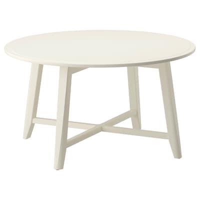KRAGSTA Tavolino, bianco, 90 cm