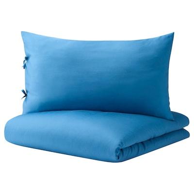 KRITSUGA Copripiumino e 2 federe, blu vivo, 240x220/50x80 cm
