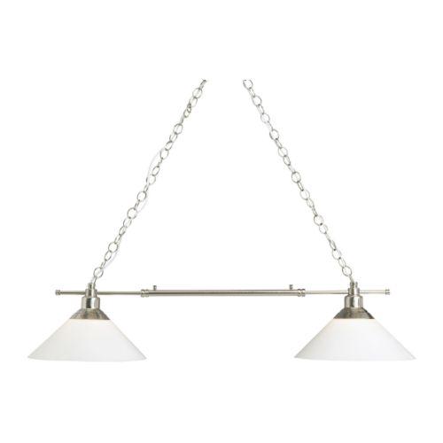 KROBY Lampada a sospensione doppia IKEA Ogni paralume in vetro ...