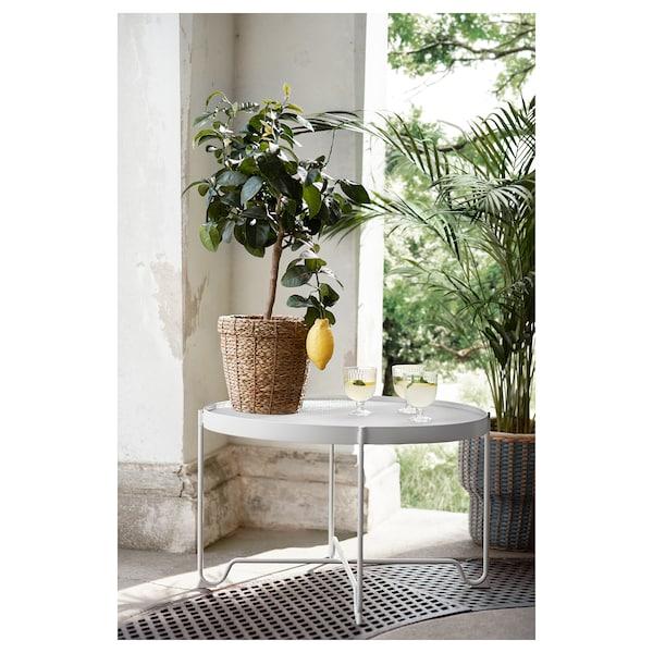 KROKHOLMEN Tavolino, da giardino, beige, 73 cm