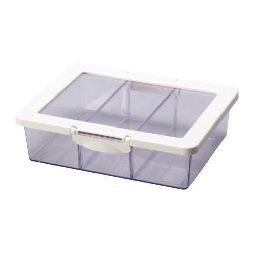 Krus contenitore coperchio cibi secchi 24x19x7 cm ikea - Ikea scatole plastica trasparente ...