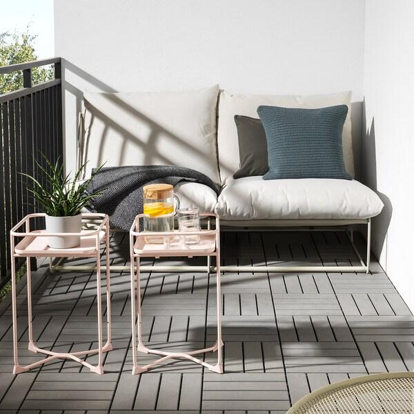 KRYDDPEPPAR Piedistallo per piante, da interno/esterno rosa, 54 cm