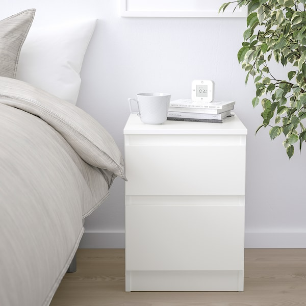KULLEN Cassettiera con 2 cassetti, bianco, 35x49 cm