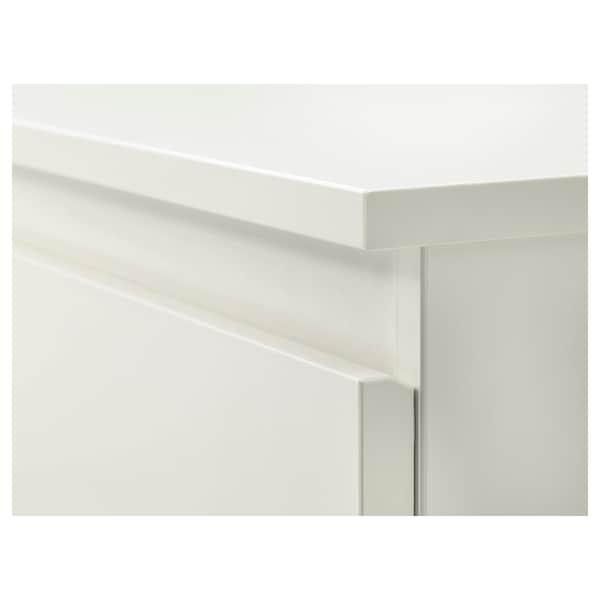 KULLEN Cassettiera con 6 cassetti, bianco, 140x72 cm