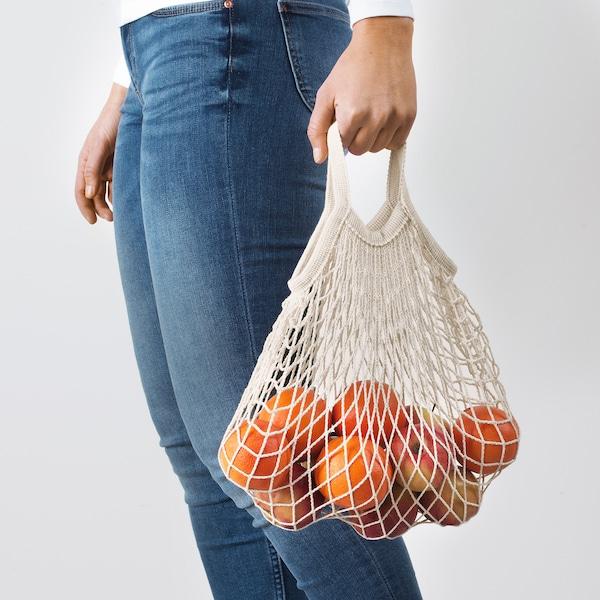 KUNGSFORS Set di 2 borse a rete, naturale
