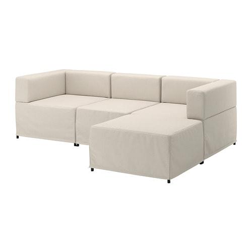 Kungshamn divano a 3 posti componibile idekulla beige ikea - Ikea divano componibile ...