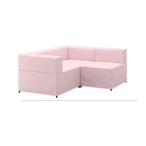 KUNGSHAMN Divano angolare 2 posti componibile - Idekulla rosa - IKEA