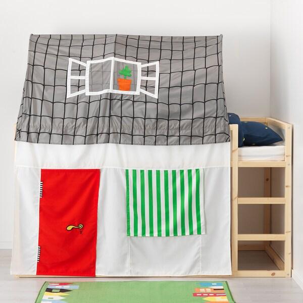 Tenda Per Letto A Castello.Kura Tenda Per Letto Grigio Bianco Ikea
