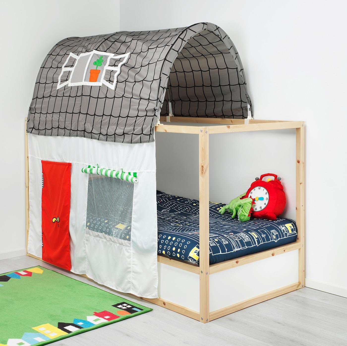Letto A Castello Con Scivolo Ikea.Kura Letto Reversibile Bianco Pino 90x200 Cm Ikea