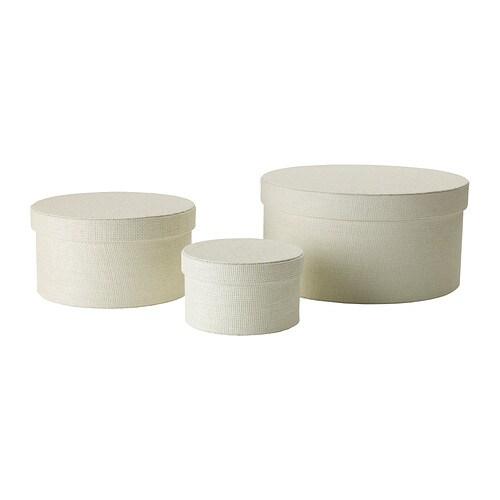 Kvarnvik set di 3 scatole bianco ikea - Scatole per trasloco ikea ...