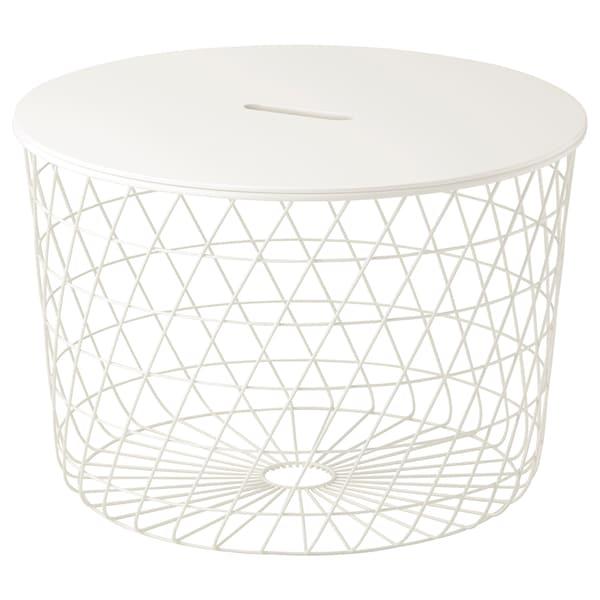 KVISTBRO Tavolino/contenitore, bianco, 61 cm