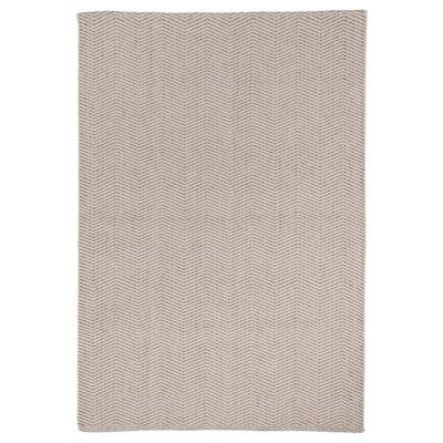KYNDELÖSE Tappeto, tessitura piatta, grigio, 133x195 cm