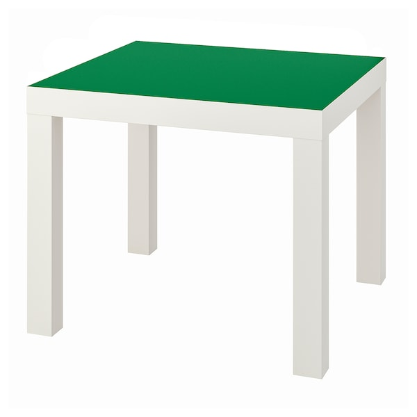 LACK tavolino bianco/verde 55 cm 55 cm 45 cm 25 kg