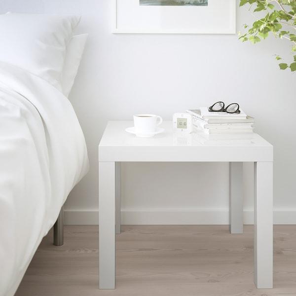 LACK Tavolino, lucido bianco, 55x55 cm
