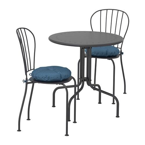 Tavoli Sedie Da Giardino Ikea.Lacko Tavolo 2 Sedie Da Giardino Lacko Grigio Ytteron Blu Ikea