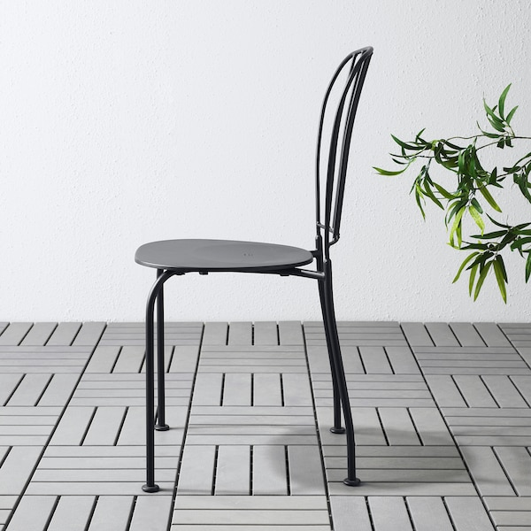 LÄCKÖ Sedia da giardino, grigio
