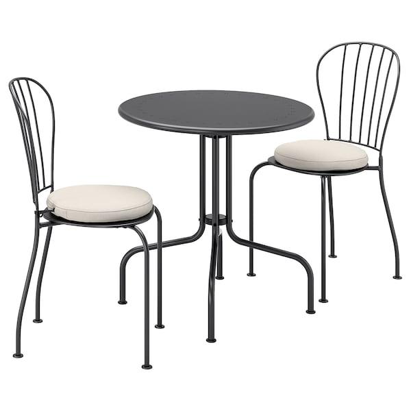 Tavoli Sedie Da Giardino Usati.Lacko Tavolo 2 Sedie Da Giardino Grigio Froson Duvholmen Beige