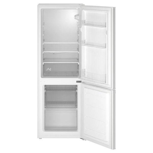 LAGAN Frigorifero/congelatore, freestanding/bianco, 118/52 l