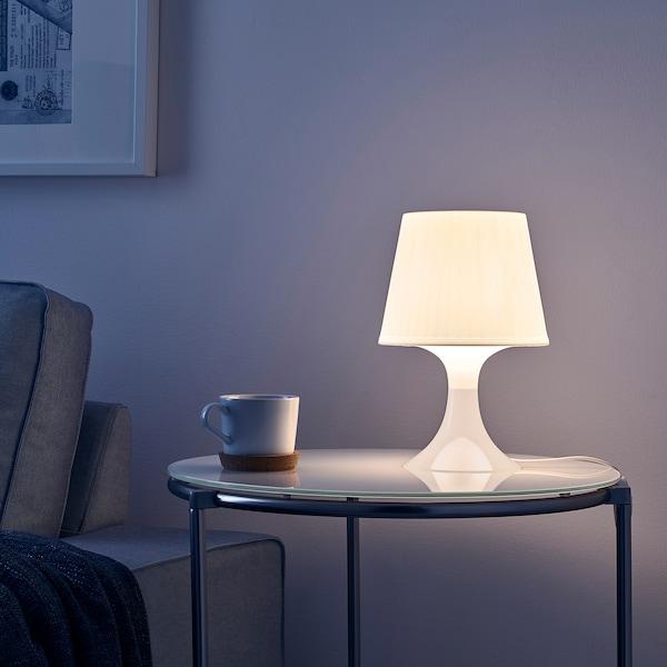 LAMPAN Lampada da tavolo, bianco, 29 cm