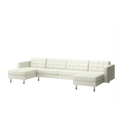 LANDSKRONA Divano a 5 posti - Grann/Bomstad bianco, legno - IKEA