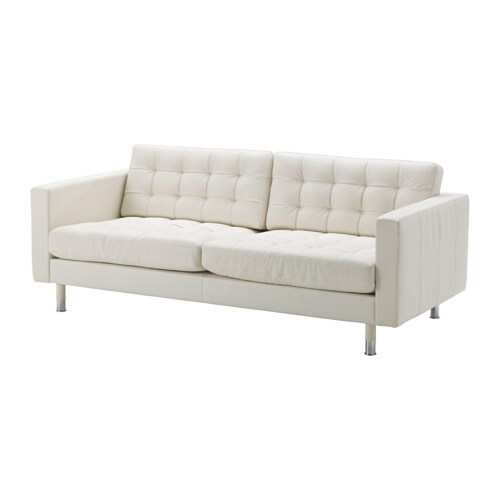 Landskrona divano a 3 posti grann bomstad bianco - Ikea divani 3 posti ...