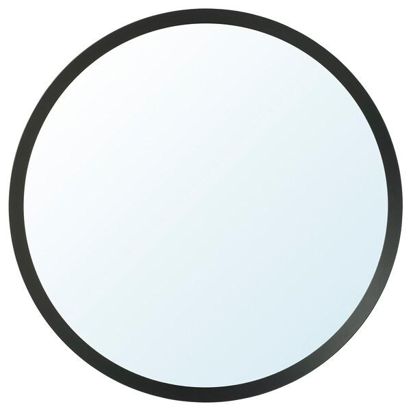 LANGESUND Specchio, grigio scuro, 80 cm