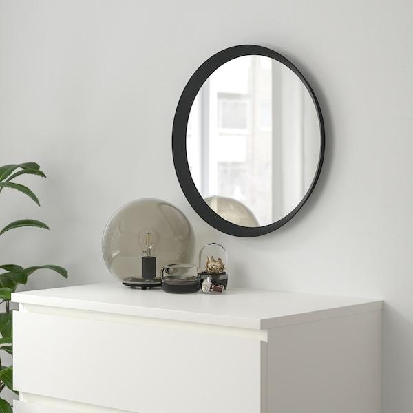 LANGESUND Specchio, grigio scuro, 50 cm