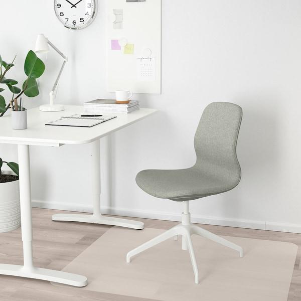 LÅNGFJÄLL Sedia riunioni, Gunnared verde chiaro/bianco