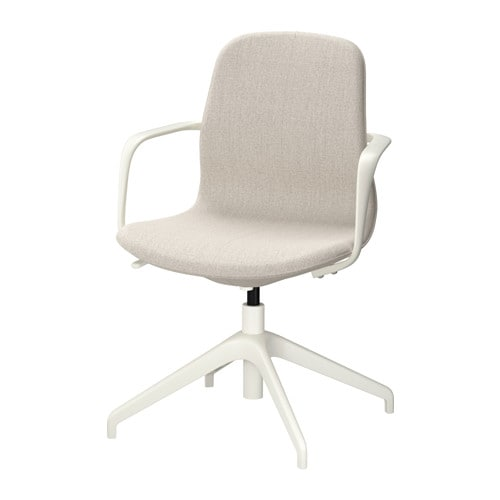 L ngfj ll sedia da ufficio gunnared beige bianco ikea for Sedia da ufficio ikea