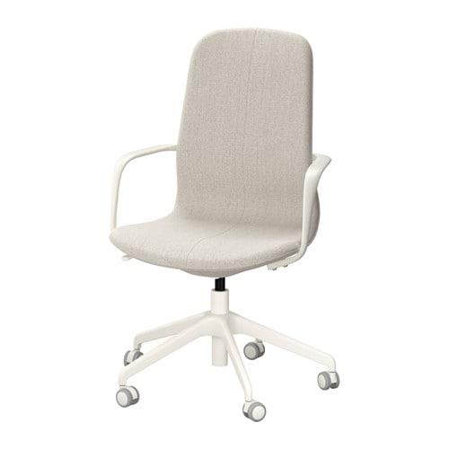 L ngfj ll sedia da ufficio gunnared beige bianco ikea for Sedie ikea imbottite