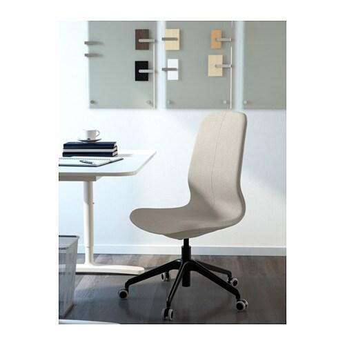 L ngfj ll sedia da ufficio gunnared beige nero ikea - Sedia rotelle ikea ...
