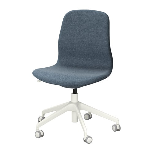 L ngfj ll sedia da ufficio gunnared blu bianco ikea for Ufficio bianco e blu