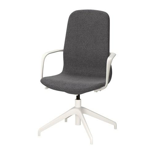 L ngfj ll sedia da ufficio gunnared grigio scuro bianco for Sedia da ufficio ikea