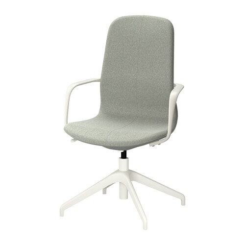 L ngfj ll sedia da ufficio gunnared verde chiaro bianco for Sedia da ufficio ikea