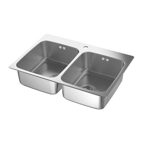 LÅNGUDDEN Lavello incasso, 2 vasche - IKEA