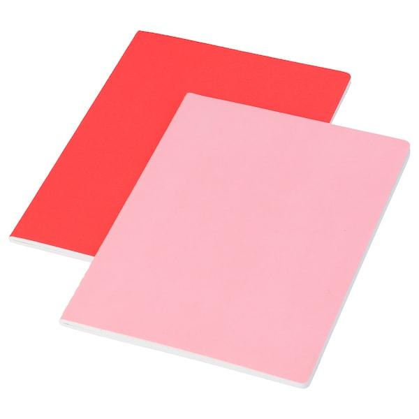 LANKMOJ quaderno rosa 40 pezzi 21.0 cm 14.5 cm 0.5 cm 80 g/m² 2 pezzi