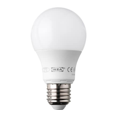 Ledare lampadina led e27 400 lumen ikea for Lampadine led ikea