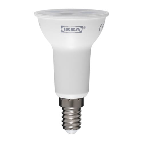 Ledare lampadina led e14 riflet r50 200lm ikea for Lampadine led ikea